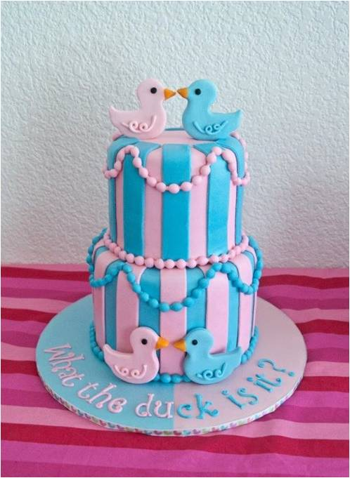 Baby Shower Reveal Cakes Part - 43: ... Baby Shower! Prettypaws Via Cakecentral Com1 Is It A Boy Or Girl... Let  Your Cake